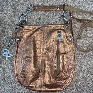 Copper crossbody bag